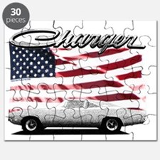 Charger USA flag Puzzle