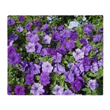 Purple Petunias Throw Blanket