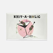 Knit-A-Holic Rectangle Magnet
