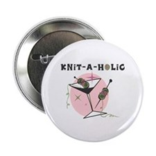 "Knit-A-Holic 2.25"" Button (10 pack)"