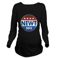 GiantNewtButton Long Sleeve Maternity T-Shirt