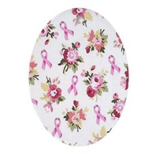 Breast Cancer Awarenessff Oval Ornament
