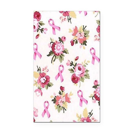 Breast Cancer Awarenessff Rectangle Car Magnet