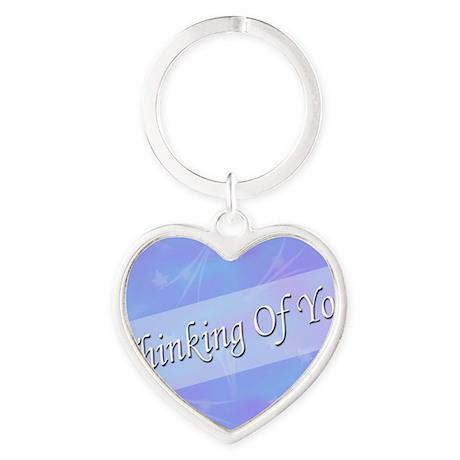 BlueThinking Heart Keychain