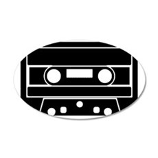 Cassette Black 35x21 Oval Wall Decal