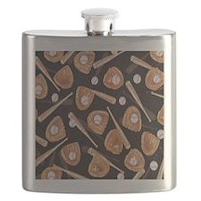 Baseball Equipment Flask