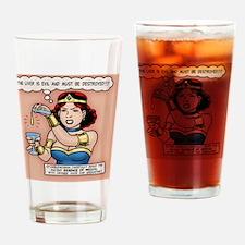 sup-heroine-TIL Drinking Glass