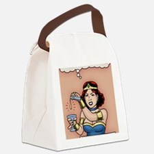 sup-heroine-CRD Canvas Lunch Bag