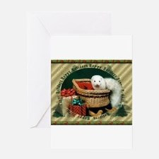 Happy Holidays Ferret Greeting Cards