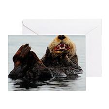 385x245_wallpeel_otter_4 Greeting Card