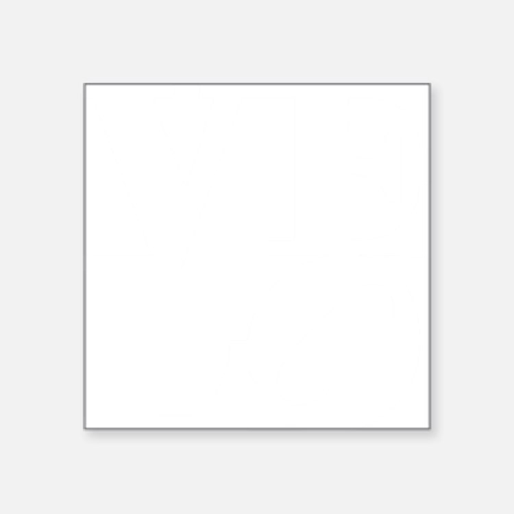 "4velo_white Square Sticker 3"" x 3"""