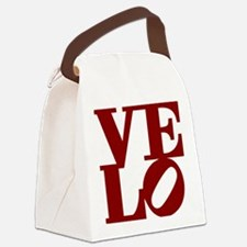 4velo_red Canvas Lunch Bag