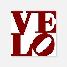 "4velo_red Square Sticker 3"" x 3"""