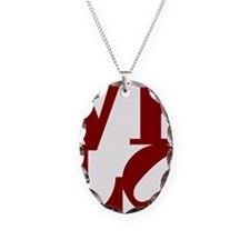 4velo_red Necklace Oval Charm