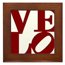 4velo_red Framed Tile