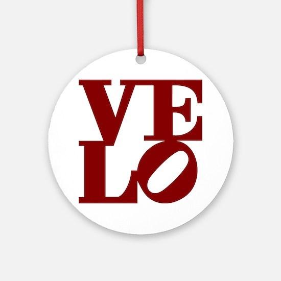 4velo_red Round Ornament
