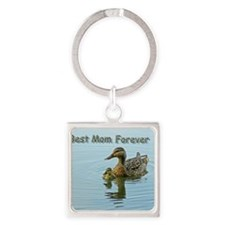 Best mom forever Square Keychain