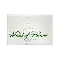 The Christmas Maid of Honor Rectangle Magnet