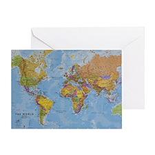 world Greeting Card