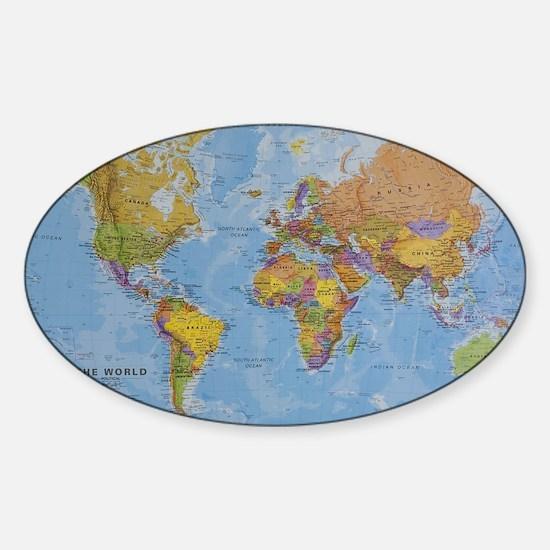 world Sticker (Oval)