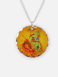 circleFlaming Dragon-Chinese Necklace