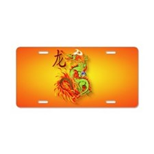 clucth bag- Flaming Dragon  Aluminum License Plate