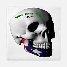 USA Skull with words Queen Duvet
