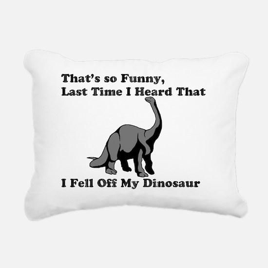 fell off my dino 2 Rectangular Canvas Pillow