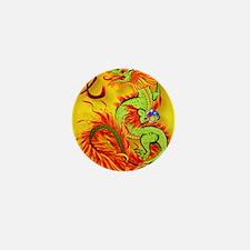 CoinPurse   Flaming Dragon and symbol Mini Button