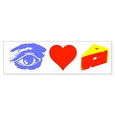 I HEART CHEESE Bumper Sticker