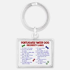 D PORTUGUESE WATER DOG PL2 Landscape Keychain