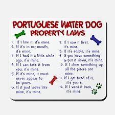 D PORTUGUESE WATER DOG PL2 Mousepad