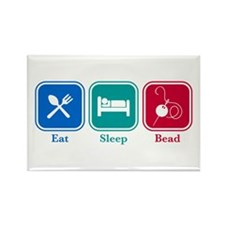 Eat Sleep Bead Rectangle Magnet