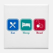 Eat Sleep Bead Tile Coaster