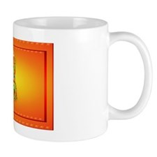 Wall Peel Flaming Dragon and Symbol Mug