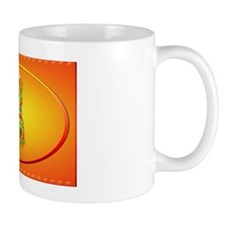 Wall Peel Flaming Dragon Oval Mug