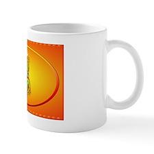 Wall Peel Flaming Dragon and Symbol Ova Mug