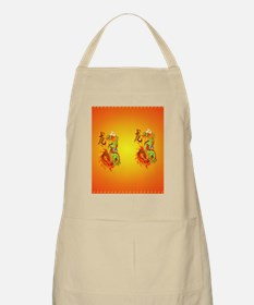 temp_flip_flops Flaming Dragon and symbol Apron