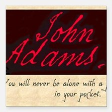 "JOHNADAMS Square Car Magnet 3"" x 3"""