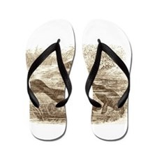 Stand By Your Manatee White Flip Flops