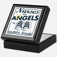 Nurses Are Angels in Comfy Shoes Keepsake Box