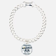 Nurses Are Angels in Com Charm Bracelet, One Charm