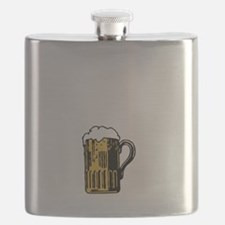 Beer Talking White Flask