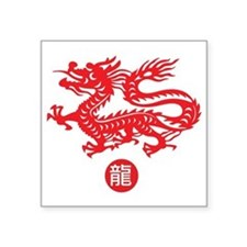 "dragon Square Sticker 3"" x 3"""