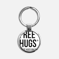HugsLight Round Keychain