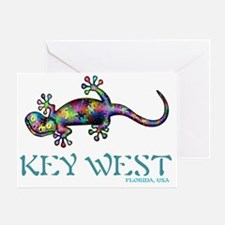 Key West Gekco Greeting Card