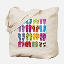 Colorful-Flip-Flops-Vector-Set Tote Bag