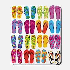 Colorful-Flip-Flops-Vector-Set Mousepad