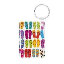 Colorful-Flip-Flops-Vector Keychains