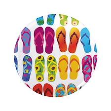 """Colorful-Flip-Flops-Vector-Set 3.5"""" Button"""